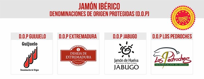 Denominaciónes de origen de los Jamones Ibéricos en España